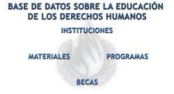 Información y materiales sobre educación en Derechos Humanos